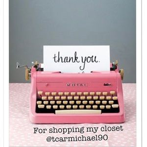 Thank you for shopping my closet!